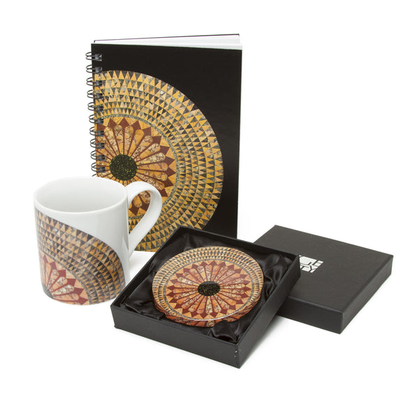 Exclusive Getty Gift Set - Herakles Mosaic Floor Pattern Sketchbook, Paperweight, and Mug