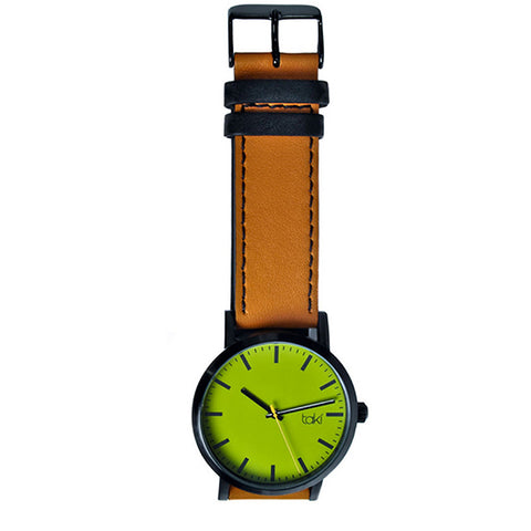 Tan/Olive Leather Watch