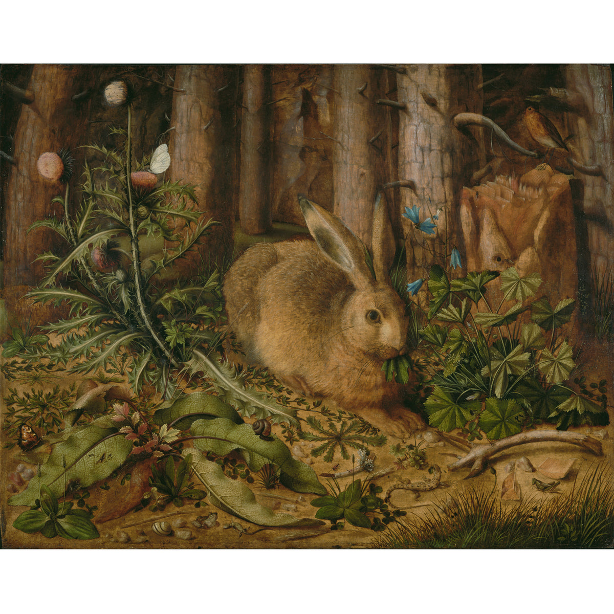 A Hare in the Forest Brooch inspiration artwork | Getty Store