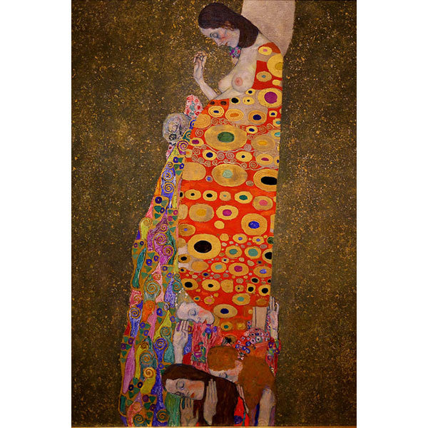 Klimt Silk Tie- Hope II in Red- Inspiration artwork | Getty Store