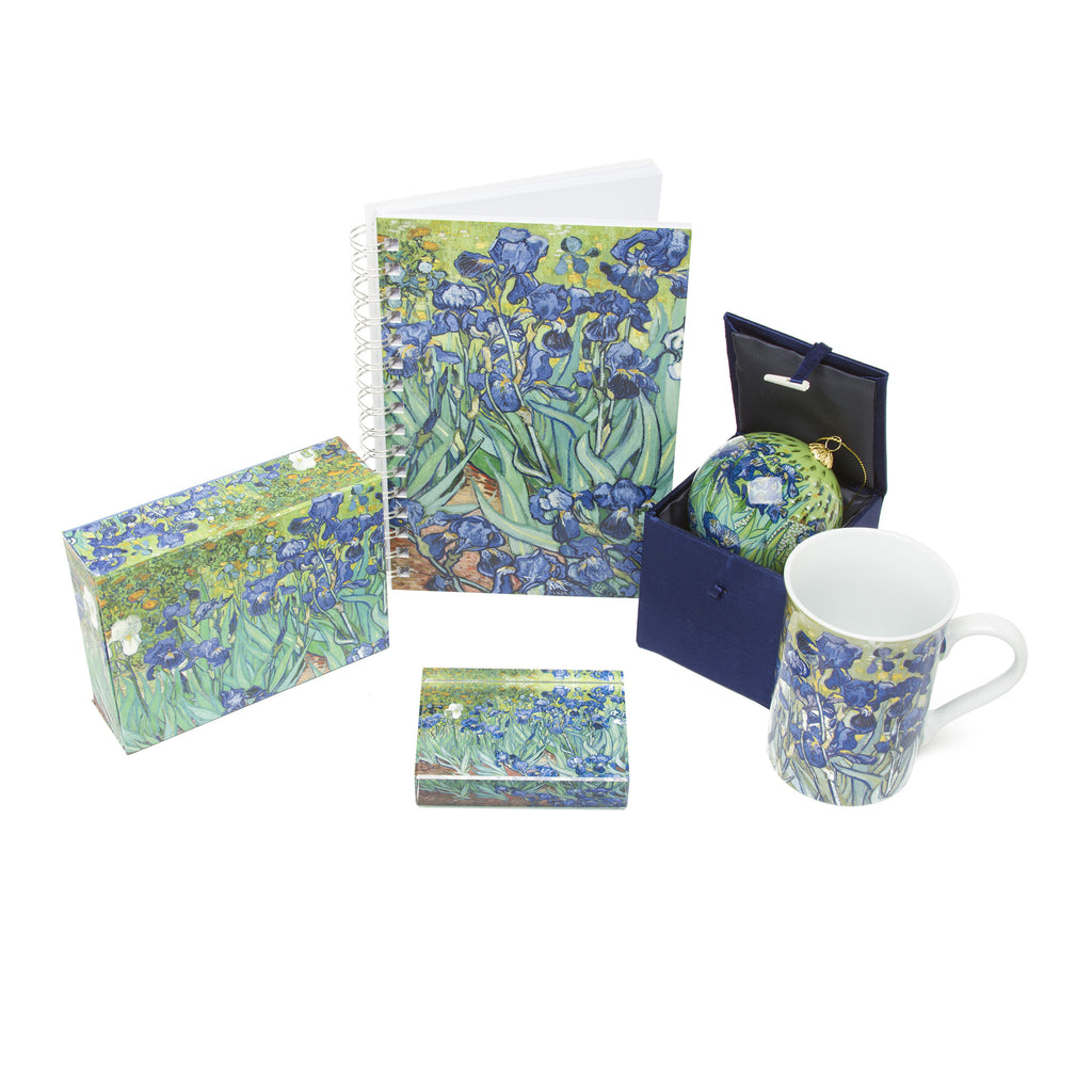 Exclusive Getty Irises Gift Set - Notecards, Ornament, Mug, Sketchbook and Paperweight