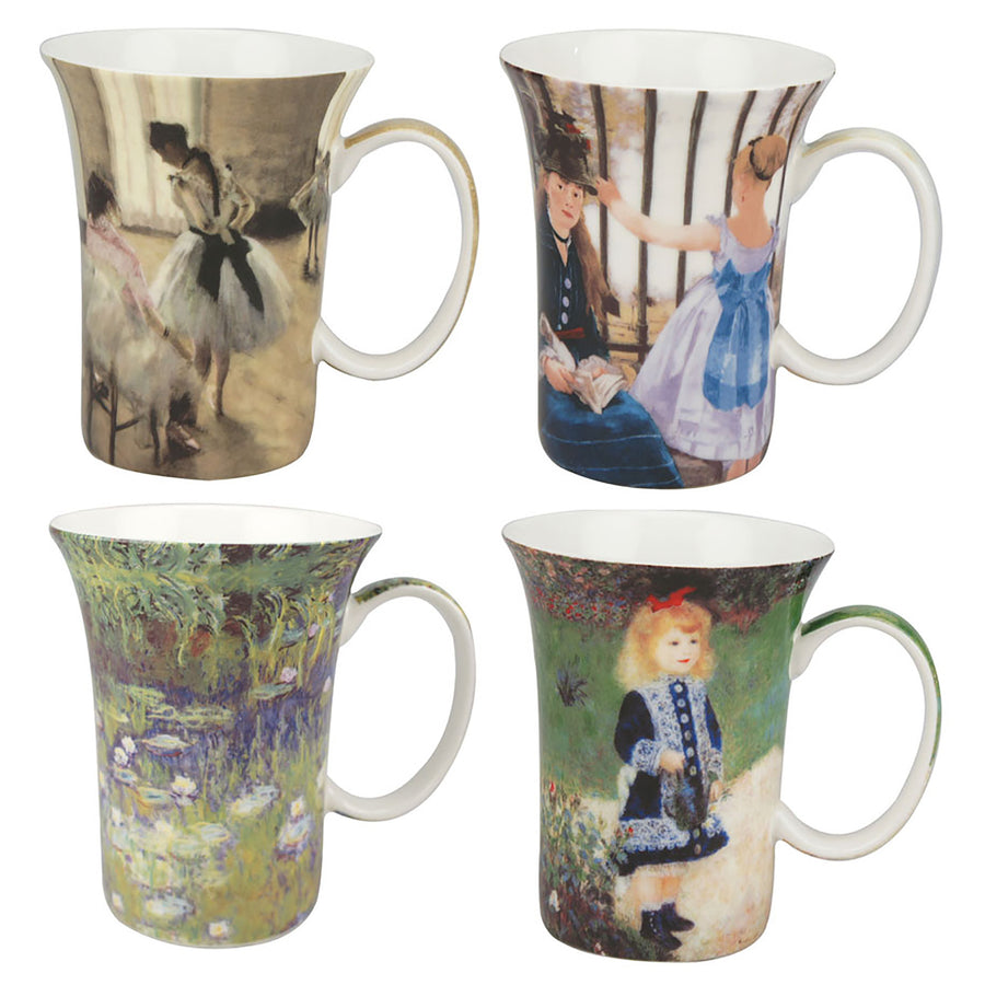 Impressionist Mugs - Set of 4