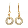 Brass Circle Earrings