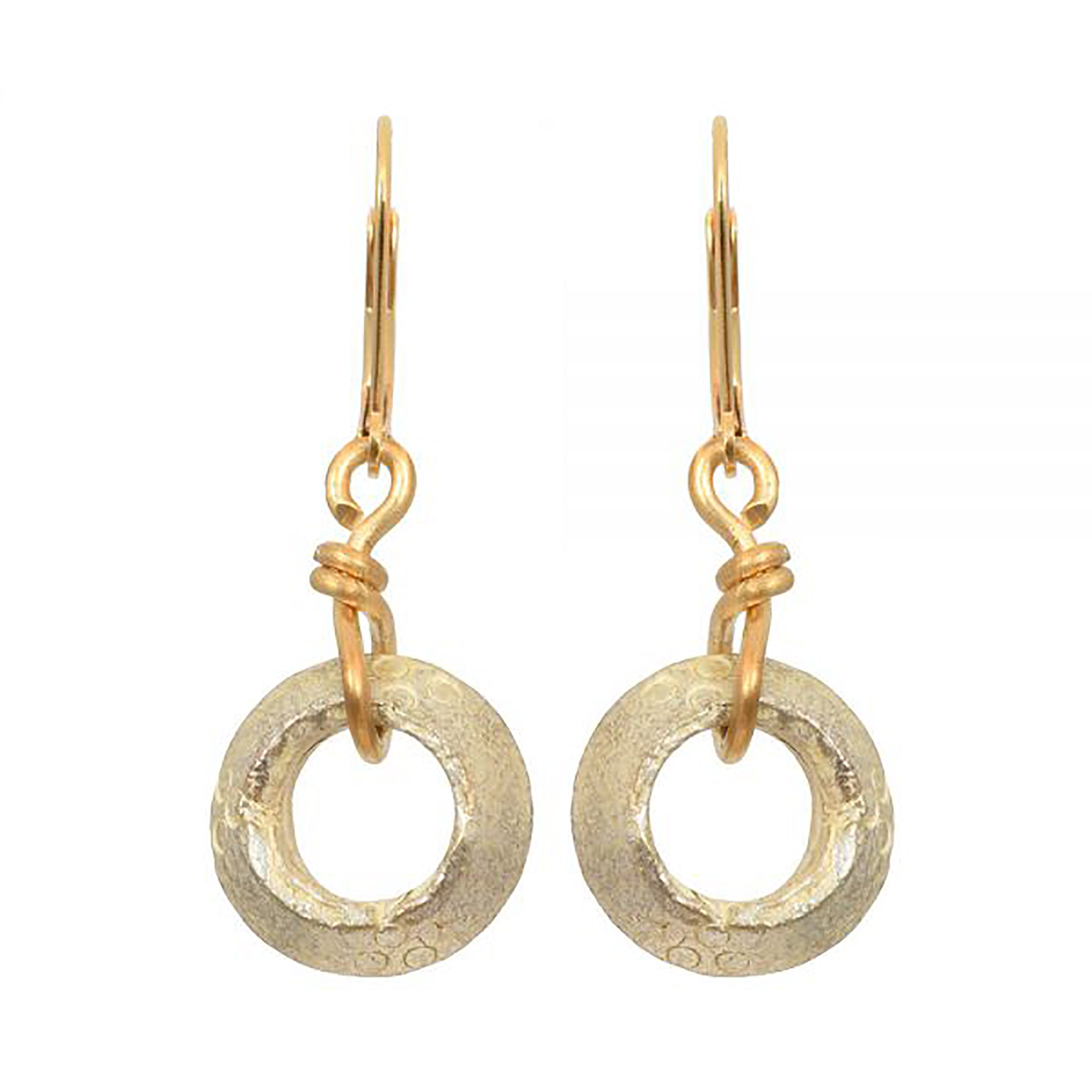 Brass Circle Earrings | Getty Store