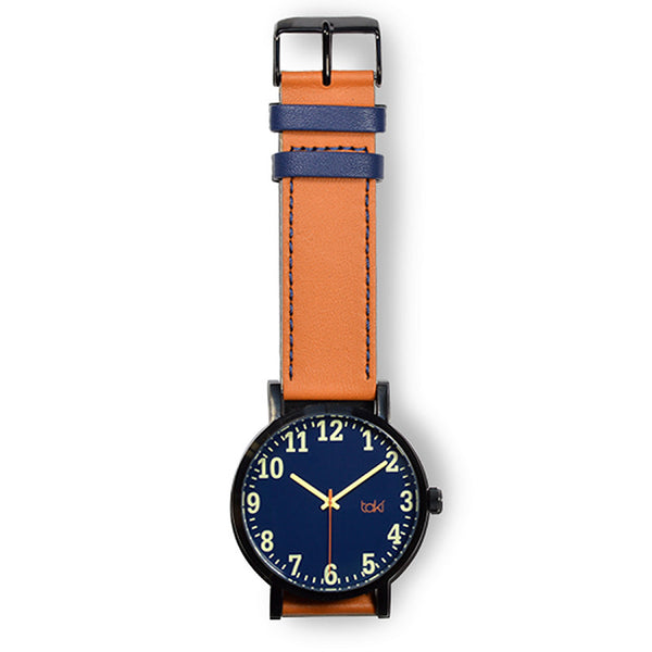 Tan/Navy Leather Watch