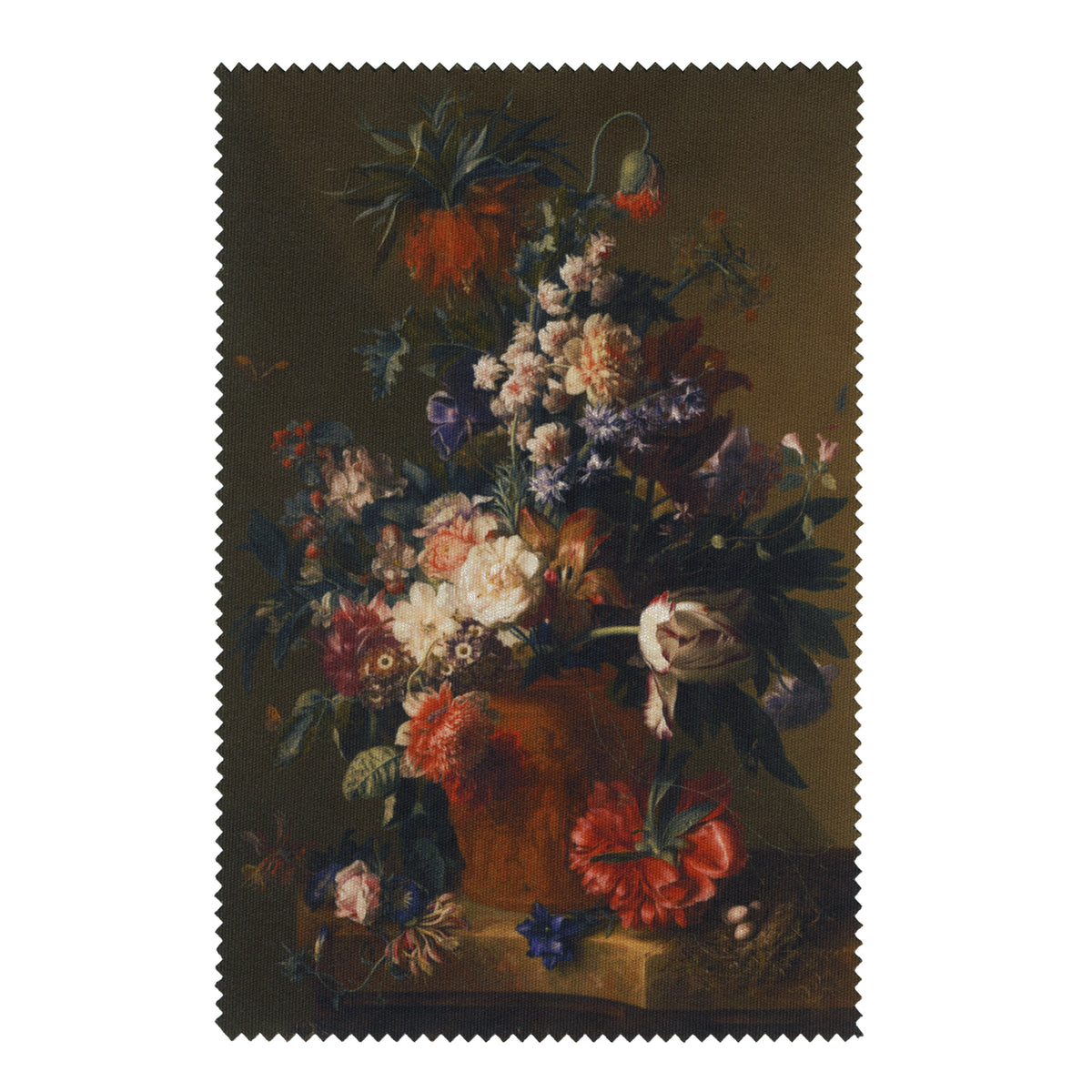Van Huysum- Vase of Flowers- Lens Cloth + Postcard  | Getty Store