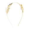 Laurel Leaf Headband - Gold Plated