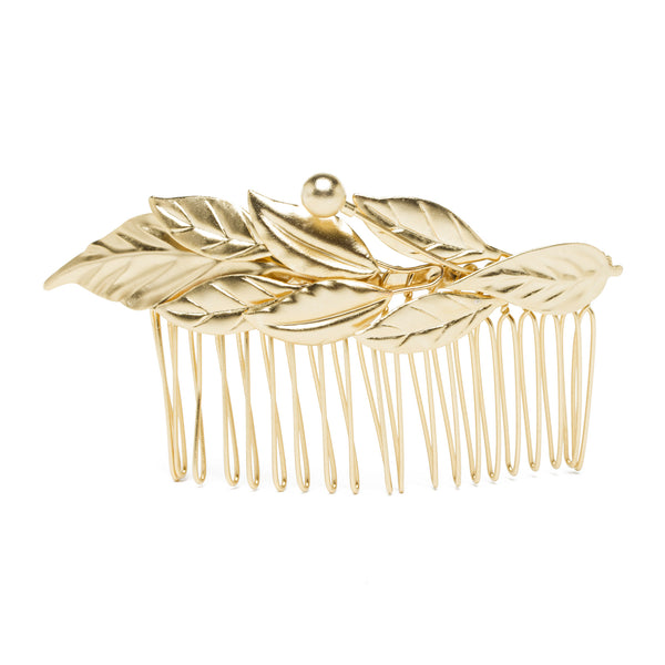 Laurel Leaf Comb - Gold Plated