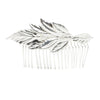 Laurel Leaf Comb - Silver Plated