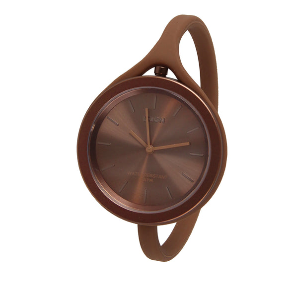 Anodized Aluminum and Silicone Watch - Copper