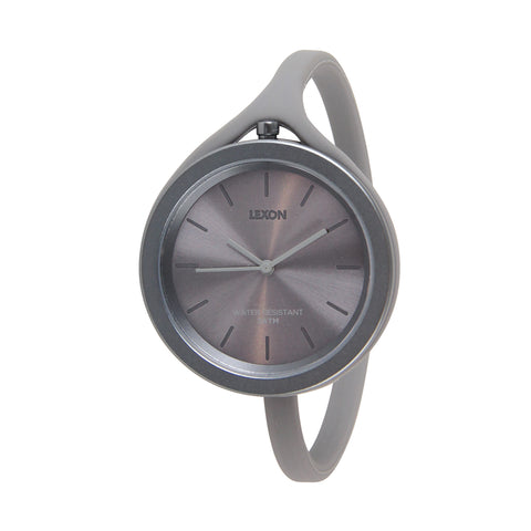Aluminum and Silicone Loop Watch - Charcoal Gray