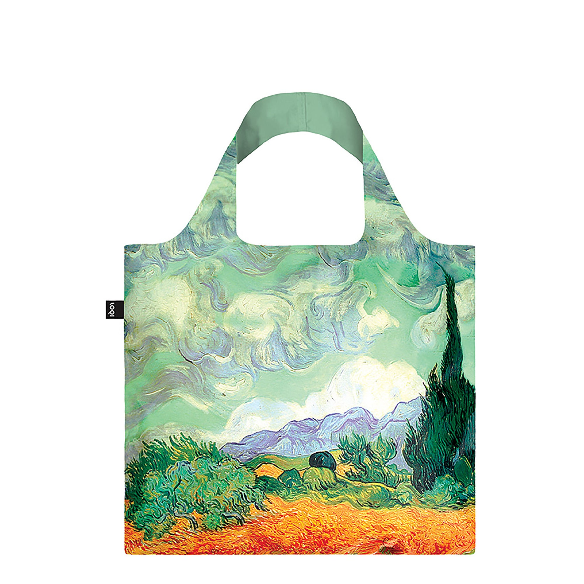 Tote Bag - Van Gogh's <i> Wheat Field with Cypresses </i>