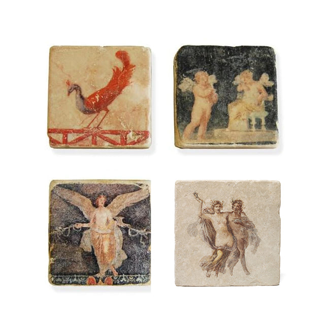 Roman Fresco Magnets- Four magnet images shown | Getty Store