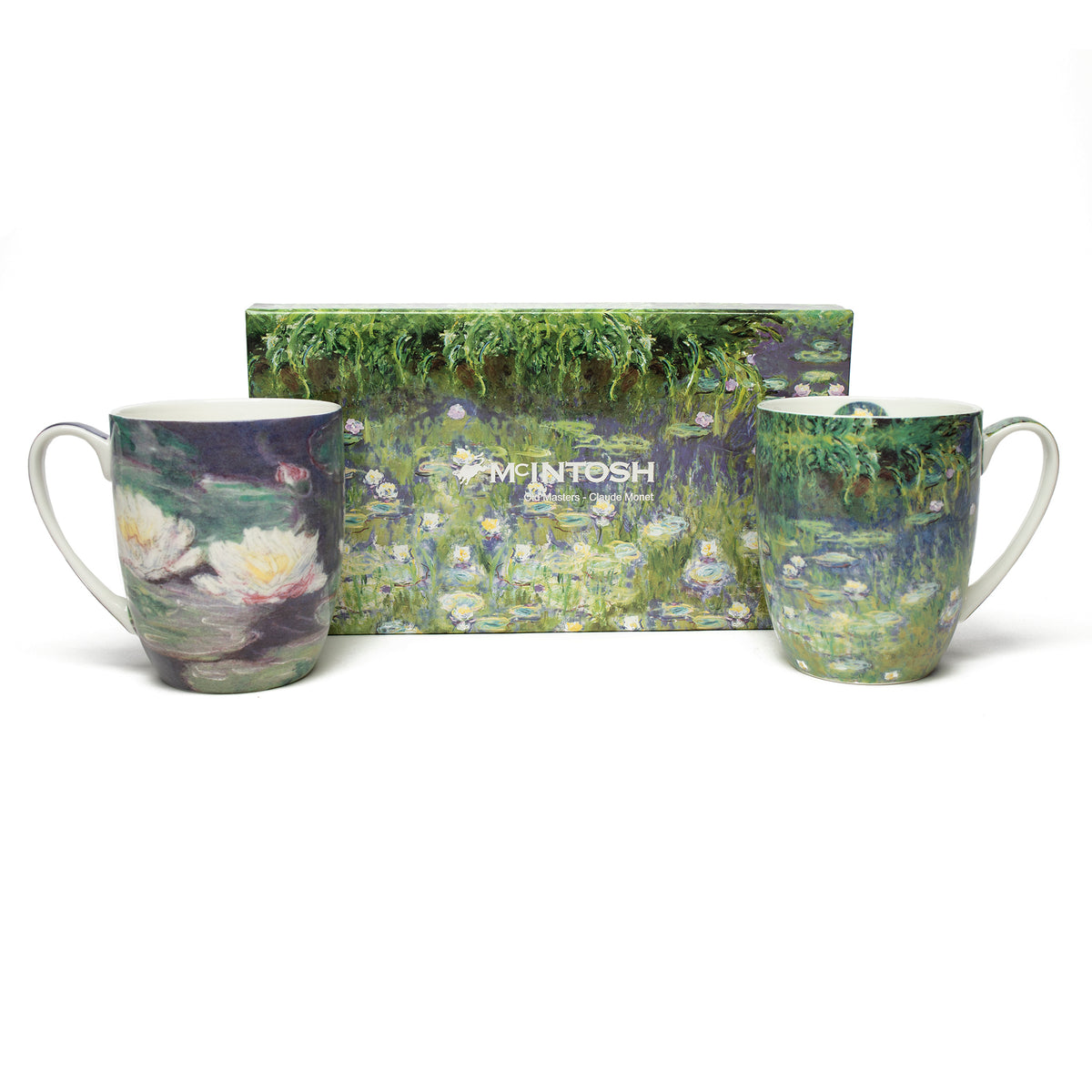 Pair of Fine Bone China Mugs featuring Monet's Water Lilies with gift box | Getty Store