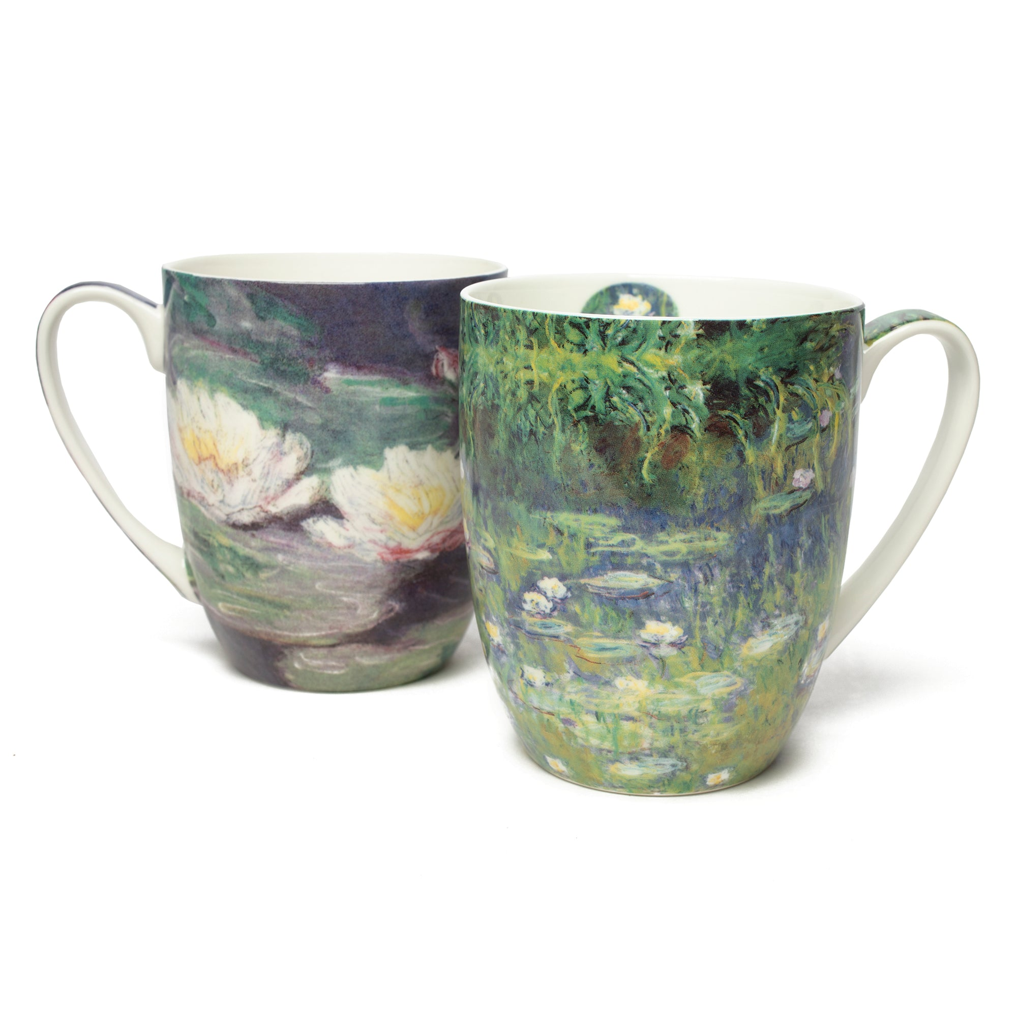 Pair of Fine Bone China Mugs featuring Monet's <i>Water Lilies</i>