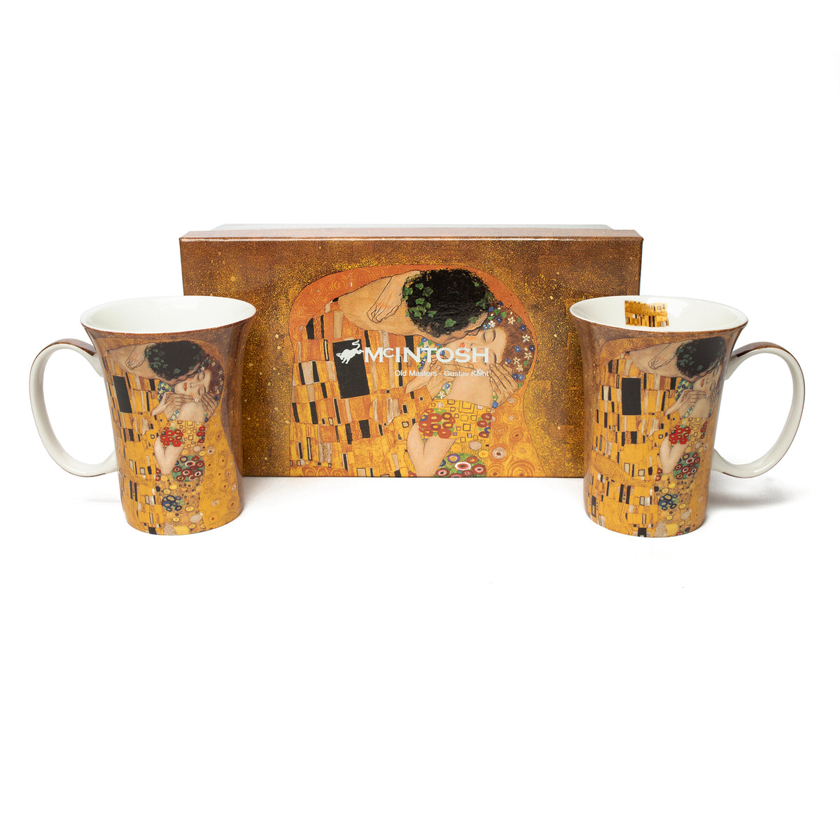Pair of Fine Bone China Mugs featuring Klimt's The Kiss with gift box | Getty Store
