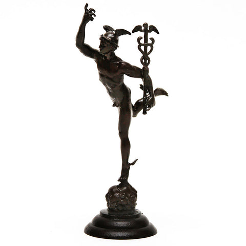 "Mercury (6""H) - Cast Brass Sculpture"