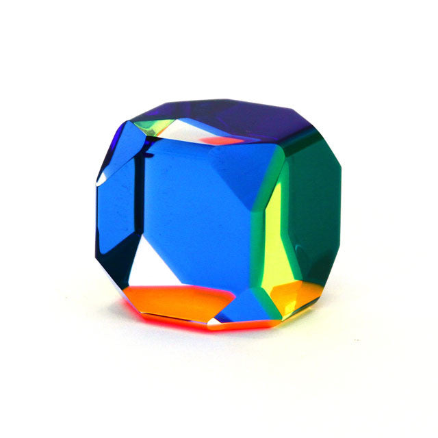 Vasa Octagonal Cube Cast Acrylic Sculpture | Getty Store