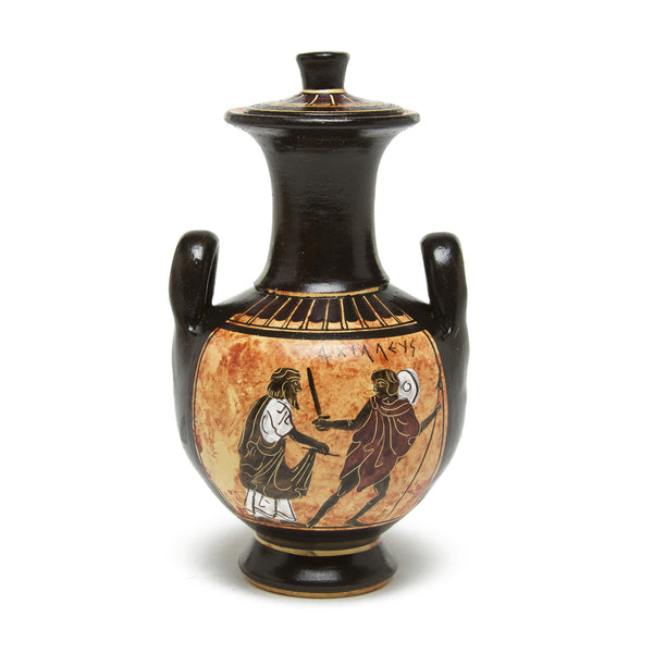 Greek Vase - Hydra with Black Figures