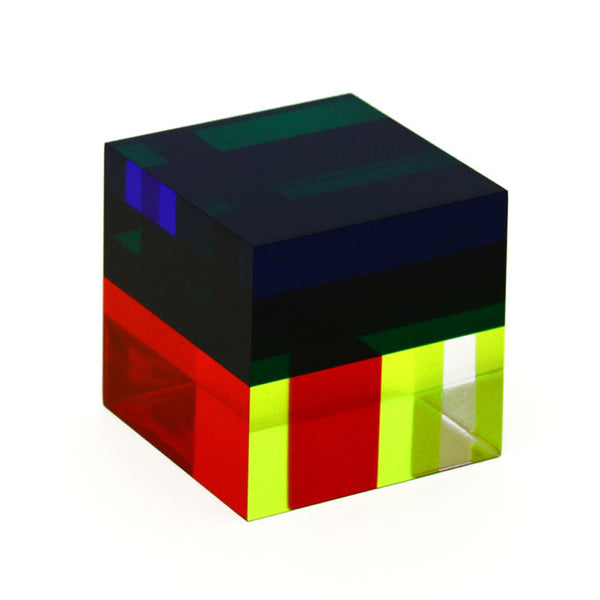 Vasa Multiplane Cube Cast Acrylic Sculpture