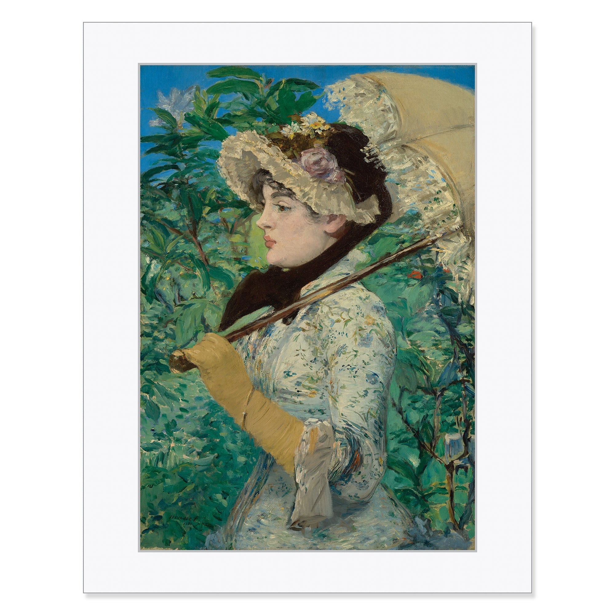 "Manet- Jeanne (Spring) 11""x14"" Matted Print 