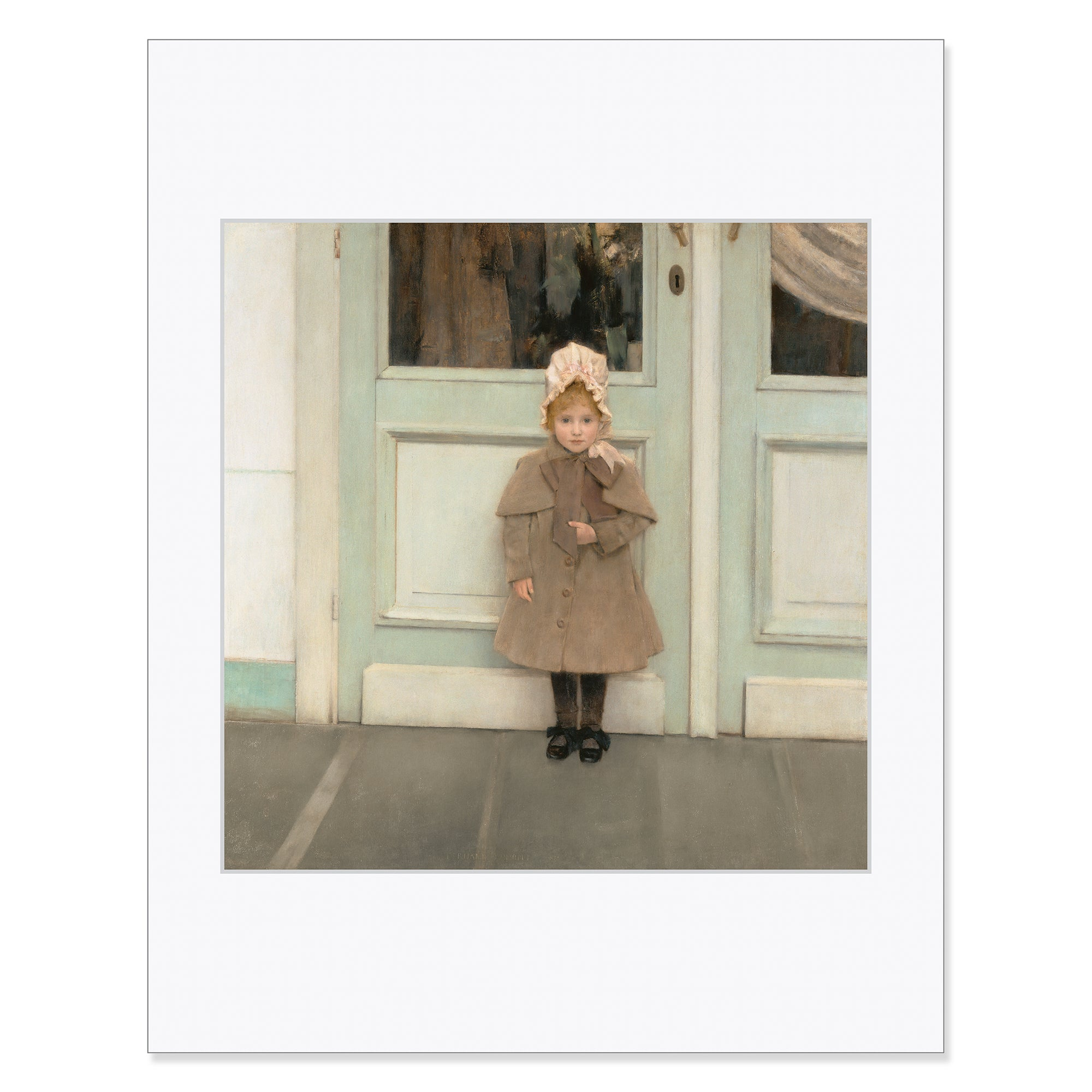 "Khnopff- Jeanne-11""x14"" Matted Print 