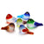 "Medium Murano Art Glass Bird (2 1/2"") 