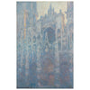The Portal of Rouen Cathedral in Morning Light Silk Scarf shown flat | Getty Store