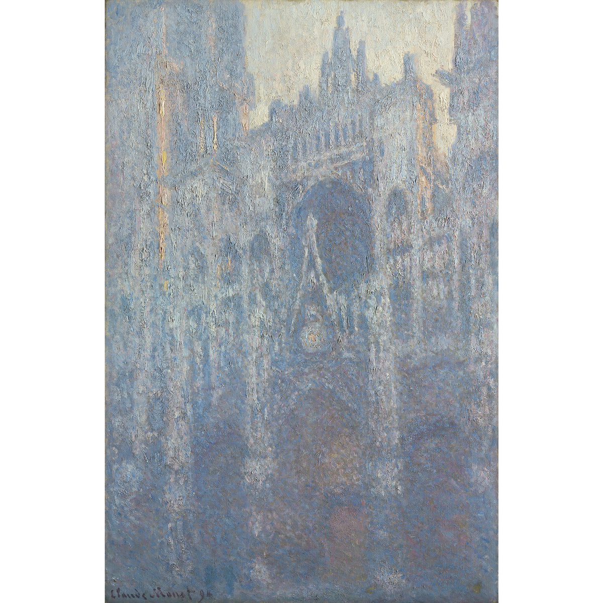 Monet-The Portal of Rouen Cathedral in Morning Light-Inspiration Artwork for earrings | Getty Store
