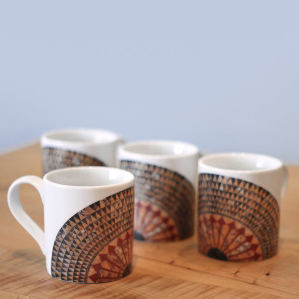 Herakles Mosaic Floor Pattern Mug - Set of Four