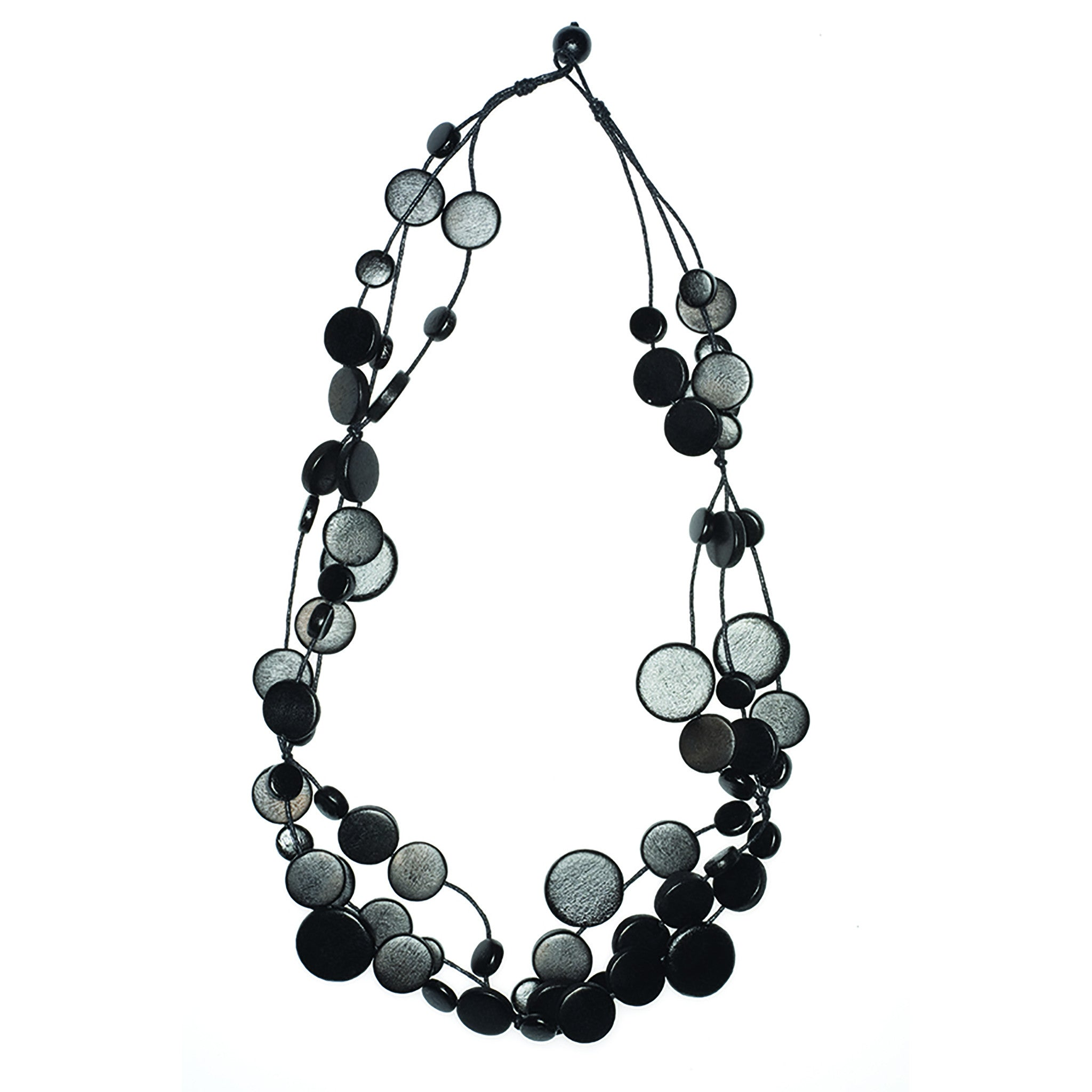 black fabric pandora necklace en choker us woven jewelry