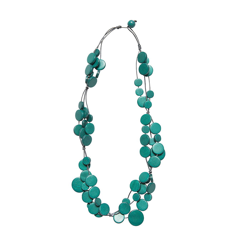 Turquoise Multi Circle Disc Necklace