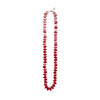 Red Flat Knotted Disc Necklace