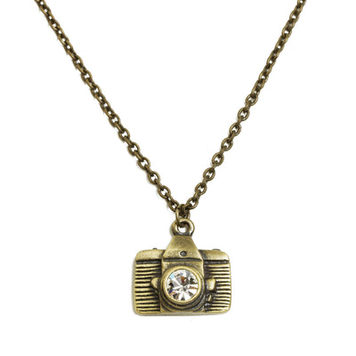 Camera Necklace - Gold Tone