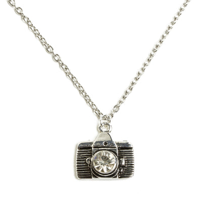 Camera Necklace - Silver Tone