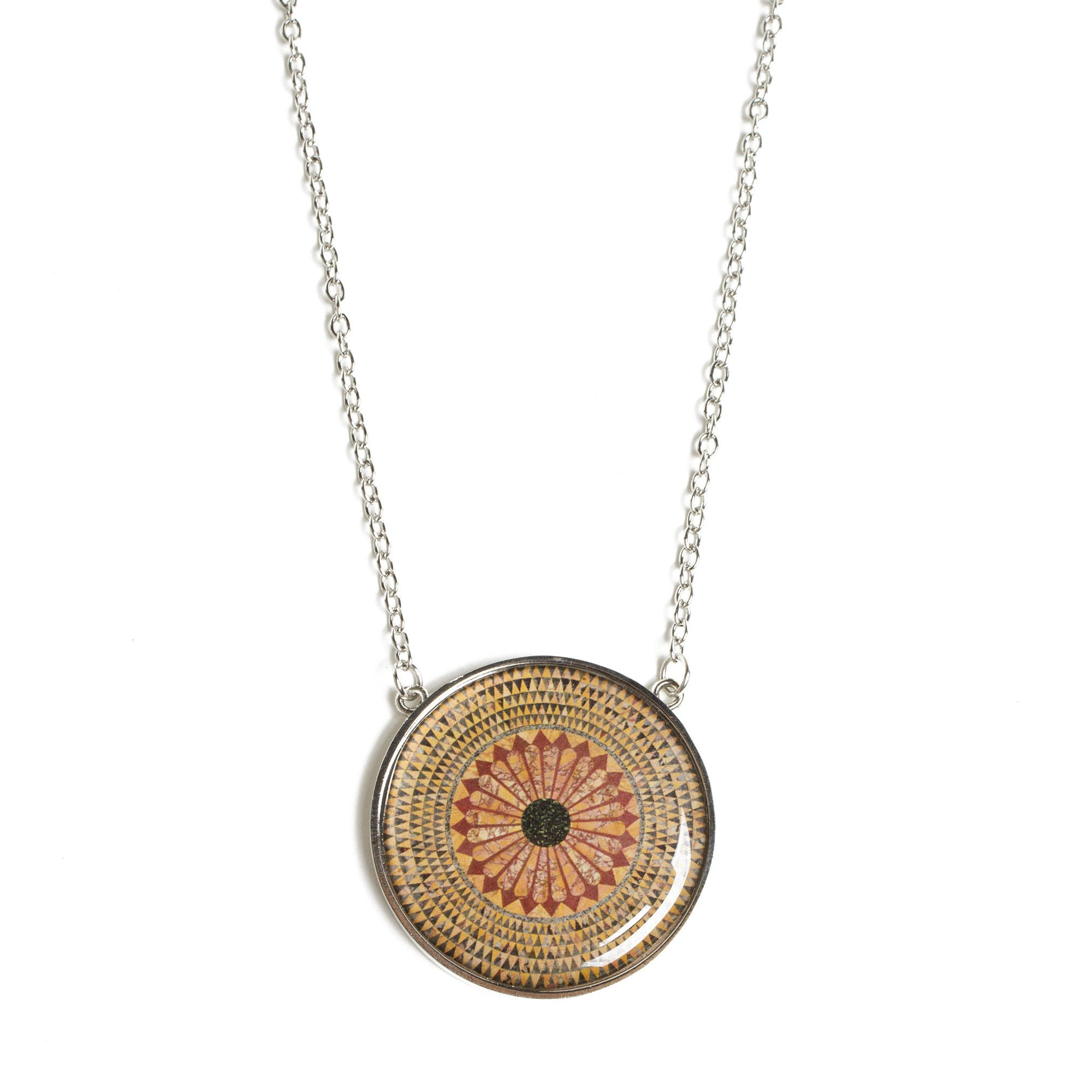 Hercules Mosaic Floor Pendant Necklace