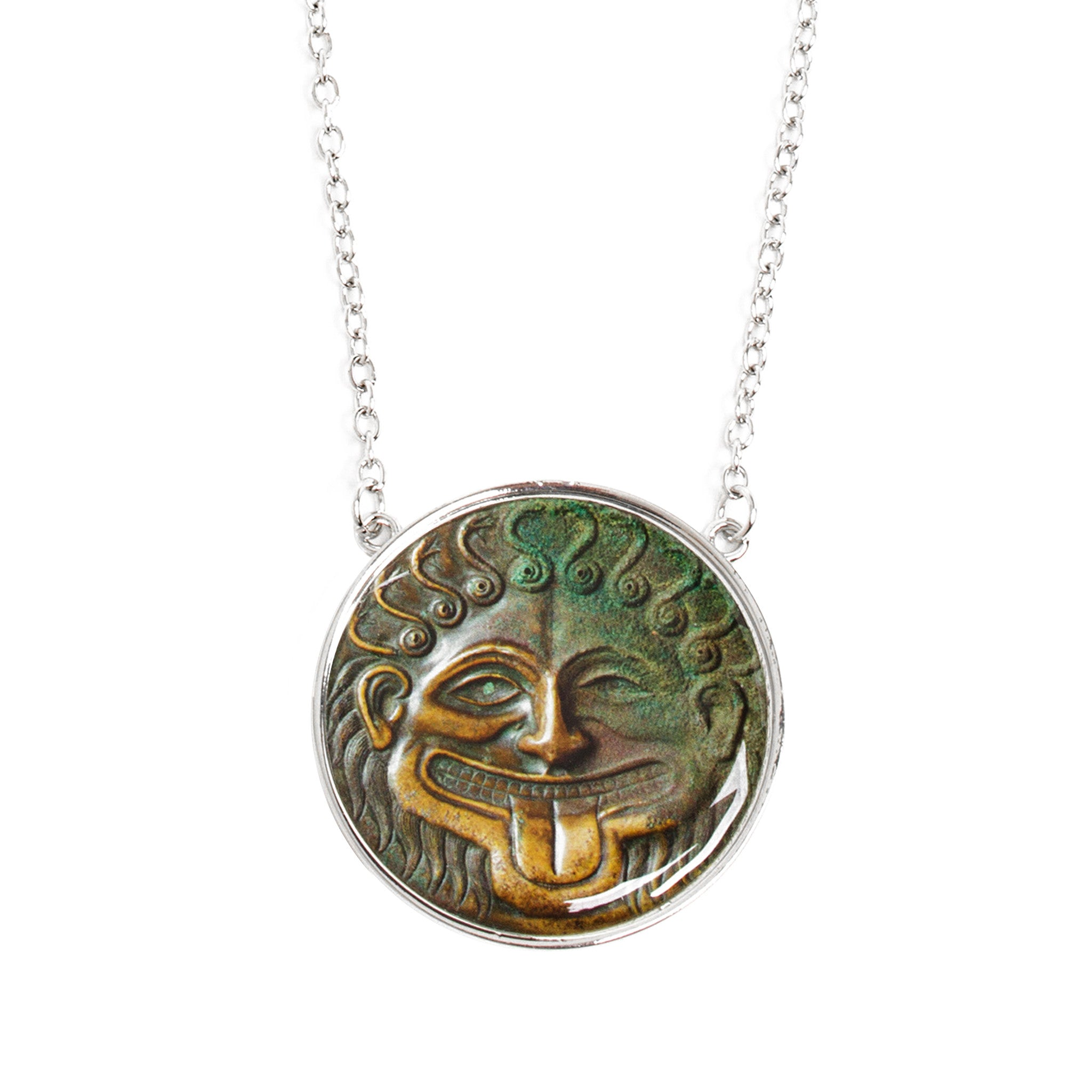 jewelry in varvatos necklace color gallery ancient pendant coin men for john greek lyst no metallic