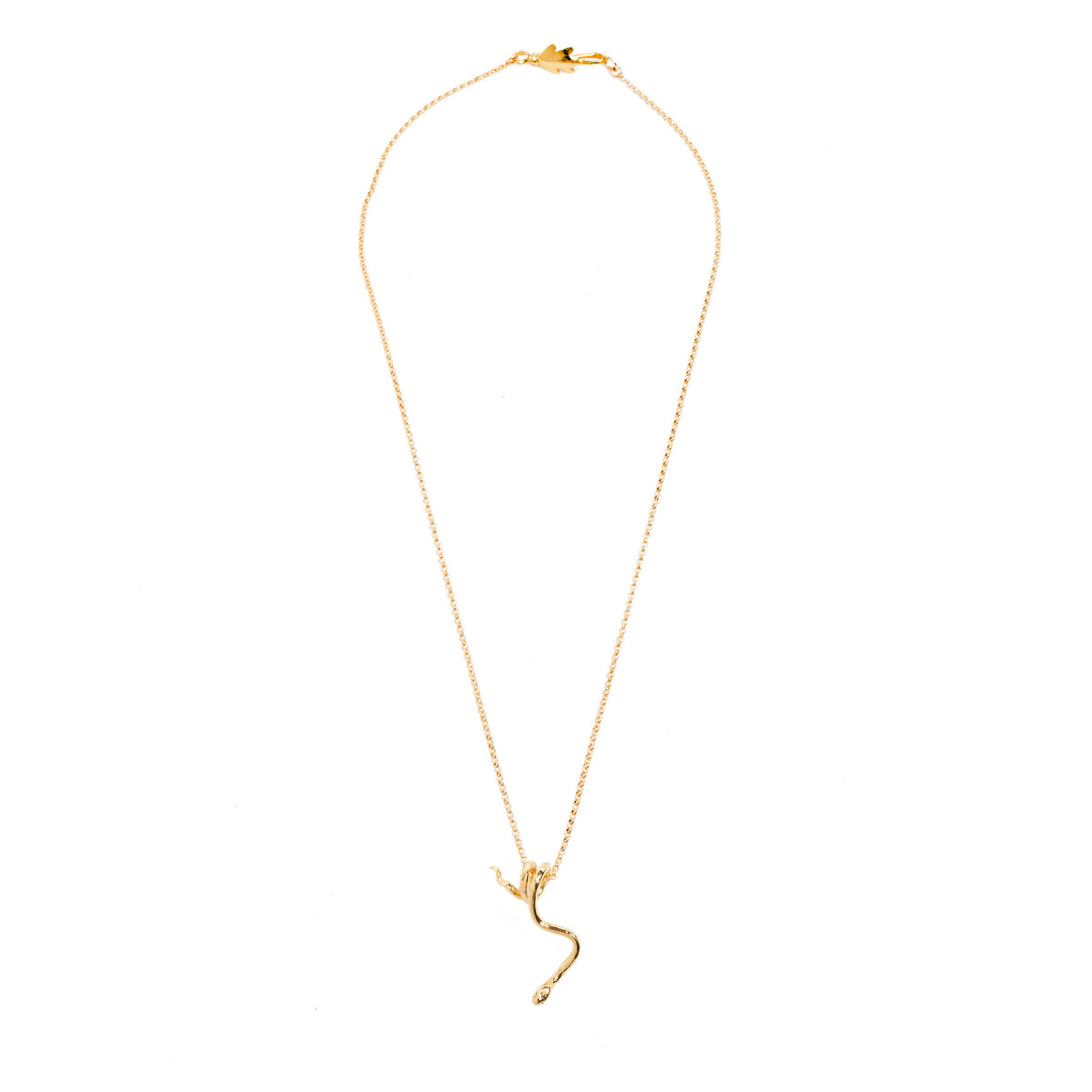 Snake Pendant Necklace- Gold Plated-Shown in entirety  | Getty Store