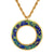Van Gogh Irises Gold Leaf Circle Pendant