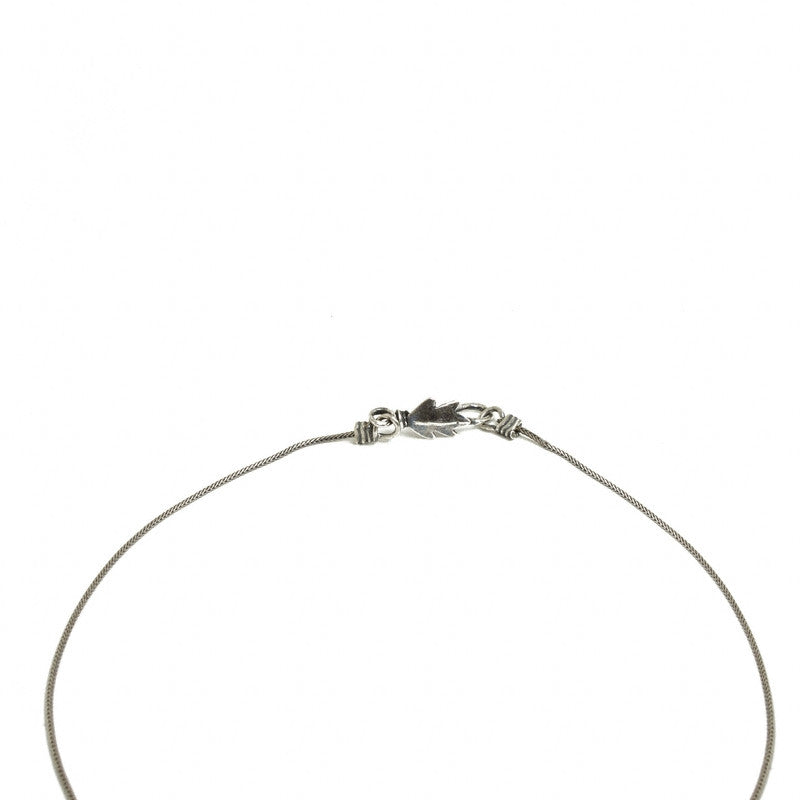 Ripe Pomegranate Pendant Necklace-Silver Plated- Leaf like closure shown  | Getty Store