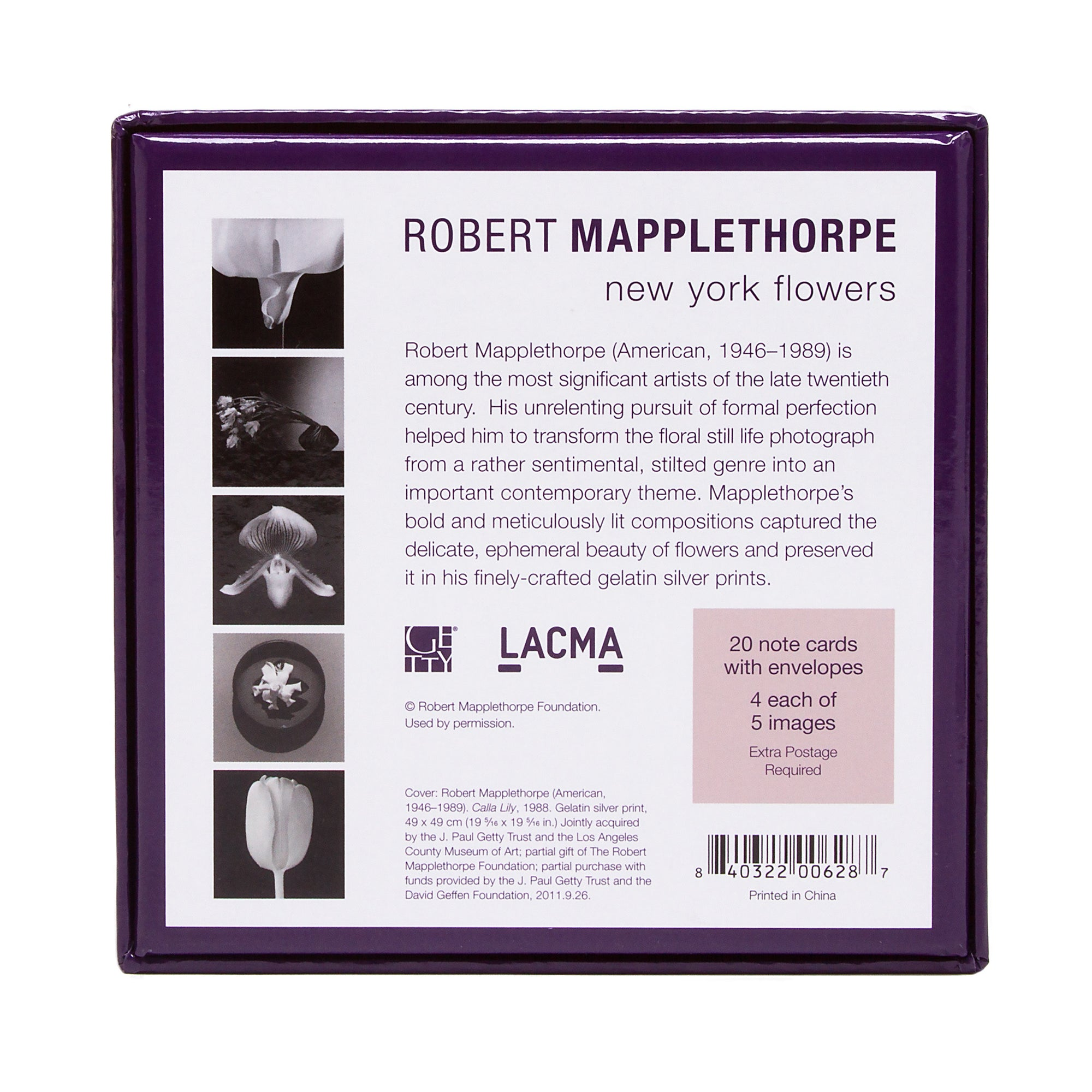 Robert Mapplethorpe New York Flowers Boxed Note Cards  | Getty Store
