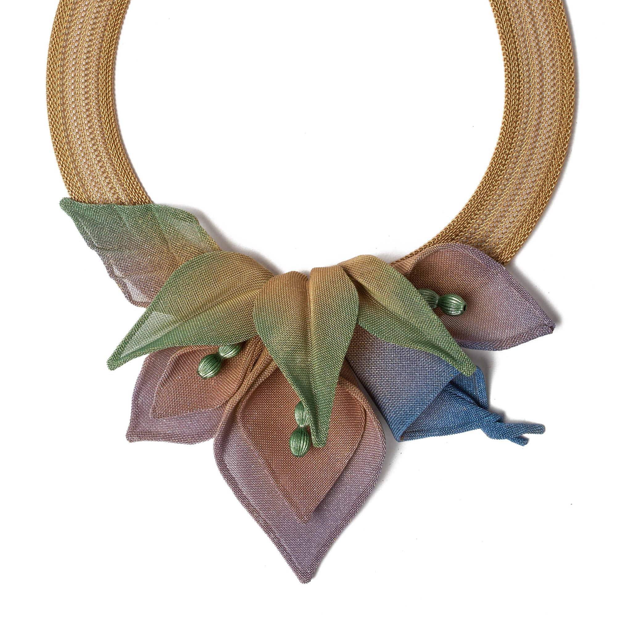 Lily Collage Necklace