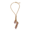 Birch Leaf Dangle Necklace
