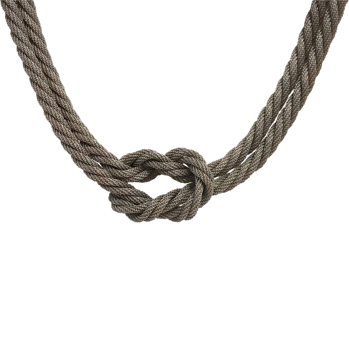 Double Strand Square Knot Necklace