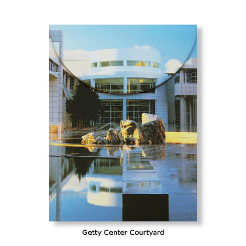 Artful Magnetic Notepads - Getty Center Courtyard