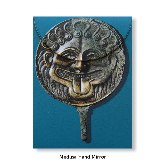 Artful Magnetic Notepads - Medusa Hand Mirror