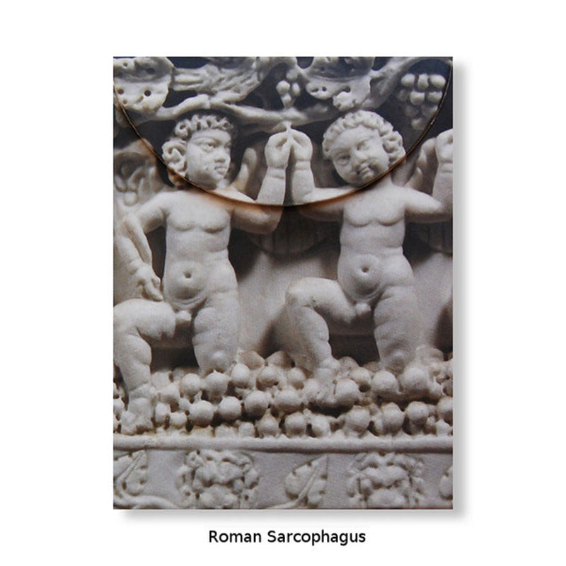 Artful Magnetic Notepads - Roman Sarcophagus