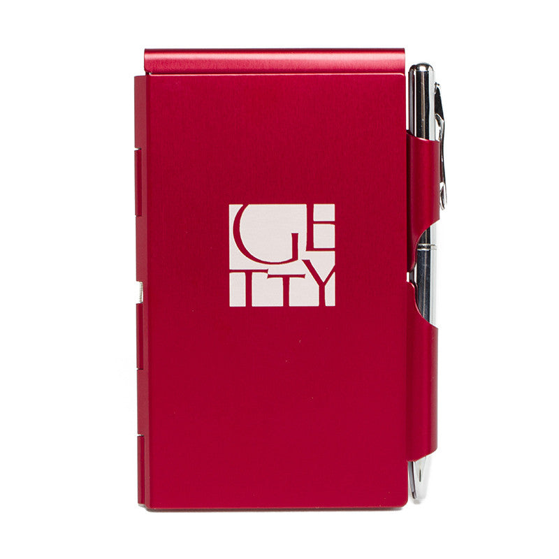 Getty Wordmark Flip Note- Red | Getty Store