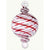 Handblown Egyptian Glass Ornament - Red Swirl
