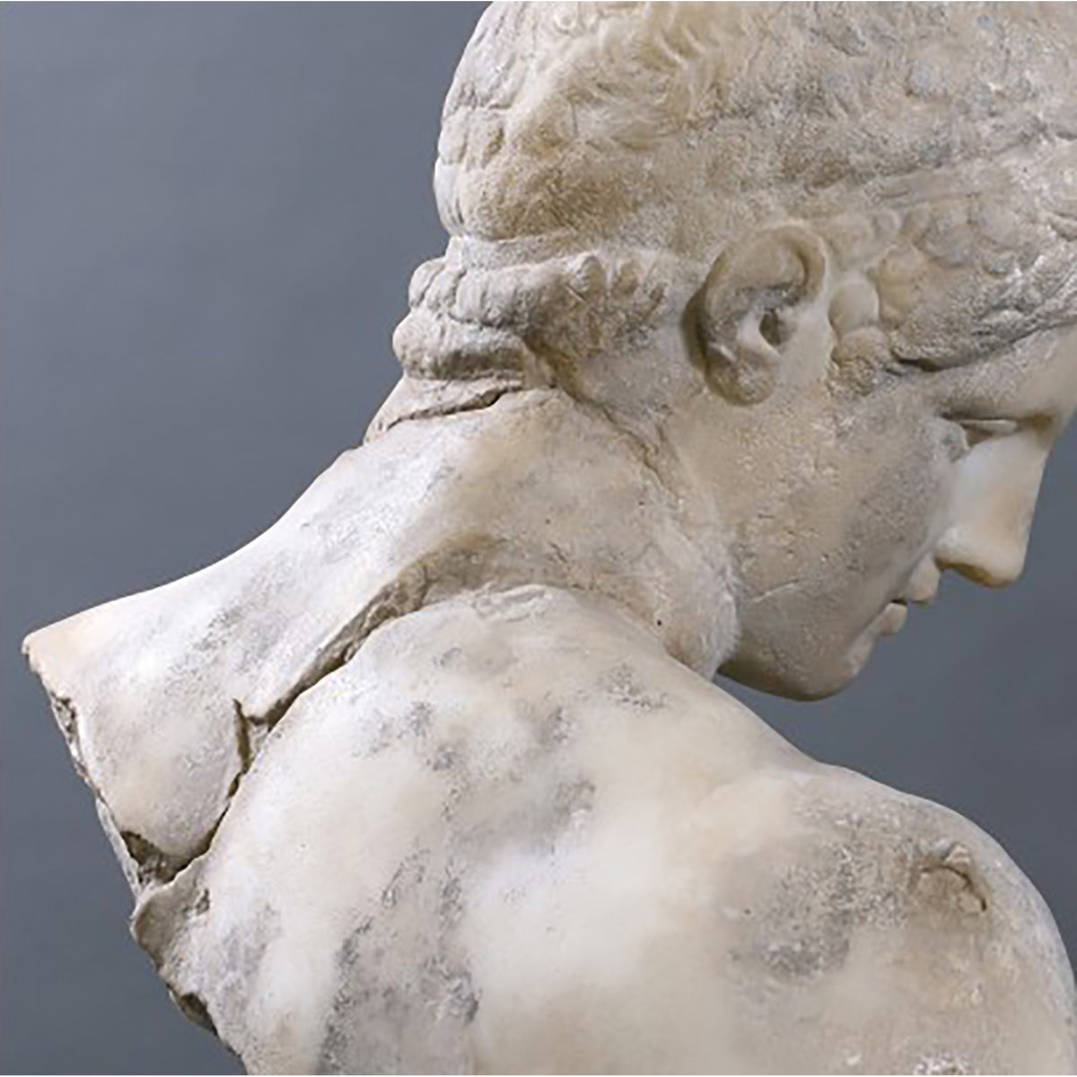 Discophorus Bust Sculpture reverse view | Getty Store